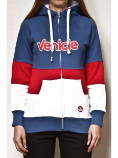 VEHICLE mikina DOROTHY BLUE/RED/WHITE