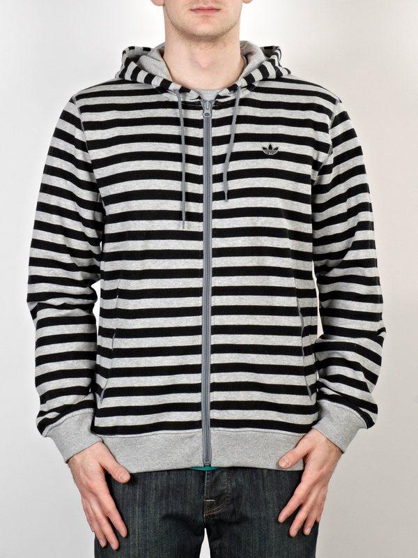 Adidas Mikina Stripes Megrhe/blk - XL
