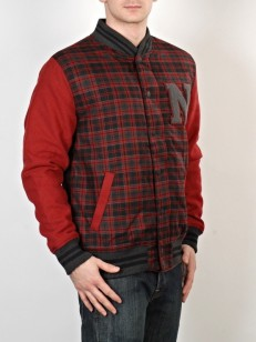 NEW ERA bunda PLAID VARS Scr Chk/Maroon