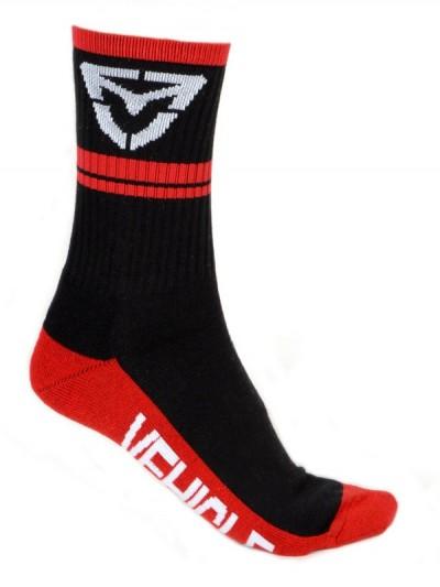 VEHICLE ponožky ICON BLACK/RED