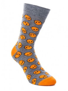 SOCK YOU ponožky SKULLY ORANGE