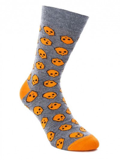 SOCK YOU ponožky SKULLY ORANGE