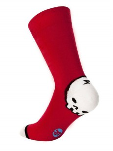 SOCK YOU ponožky BIG SKULL RED