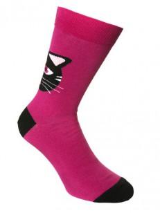 SOCK YOU ponožky BLACK CAT PINK