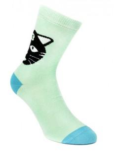 SOCK YOU ponožky BLACK CAT MINT