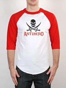 ANTIHERO triko SMALL SKULL WHT/RED