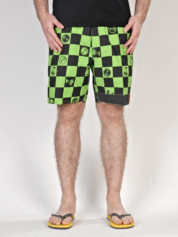 Vans Koupací Šortky Captain Fin Neon Green/blac - 32 zelená