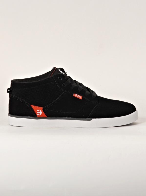 Etnies Boty Jefferson Mid Black/red/grey - 10us černá