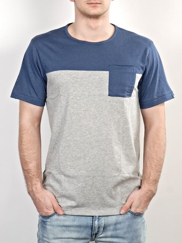 Adidas Triko Silas Blu/gry - S modrá