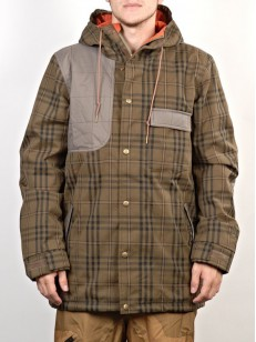 NITRO bunda ROCKY dark olive plaid