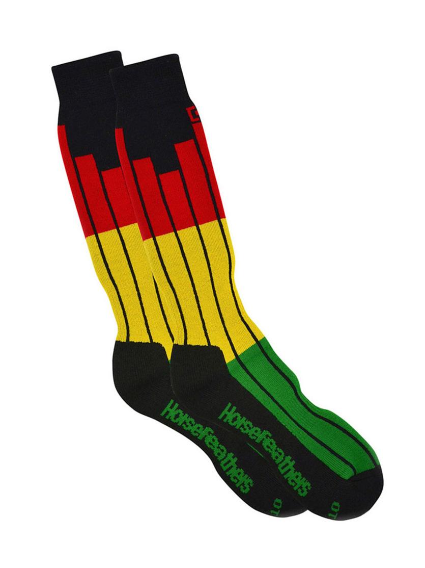 Horsefeathers Ponožky On Air Rasta - 11-13 černá