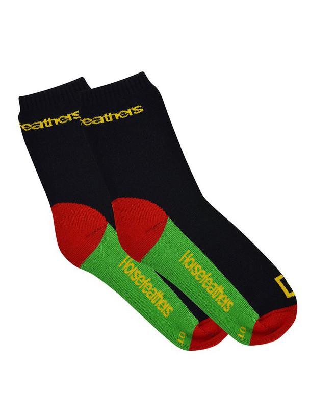 Horsefeathers Ponožky Prep School Rasta - 5-7 černá