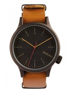KOMONO hodinky MAGNUS BLACK COGNAC