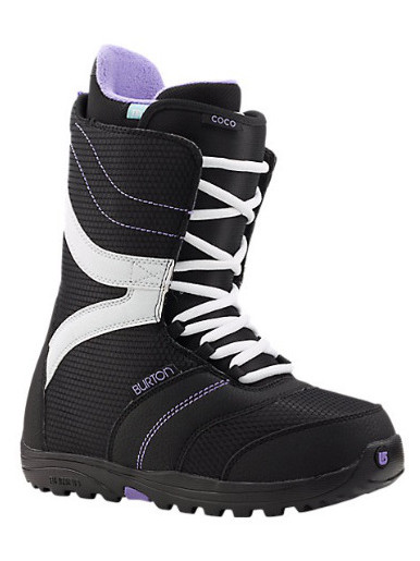 Burton Boty Coco Black/purple - 8usw černá