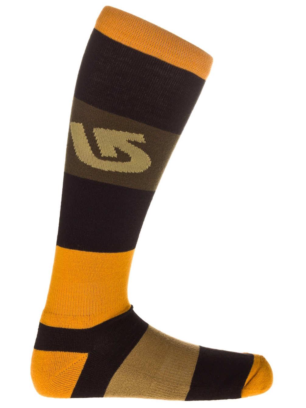 Burton Ponožky Tailgate True Black - M hnědá