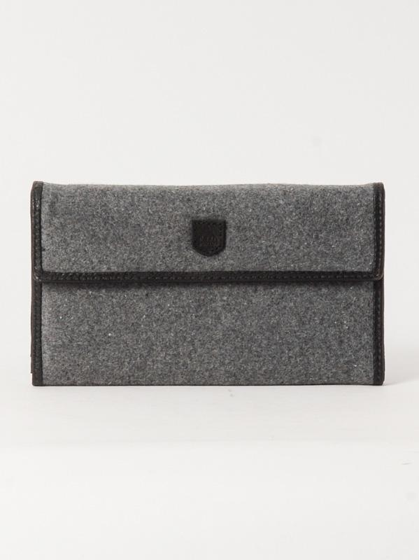 Burton Peněženka Tri Fold Grey Wool šedá