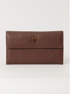 BURTON peněženka TRI FOLD BROWN LEATHER