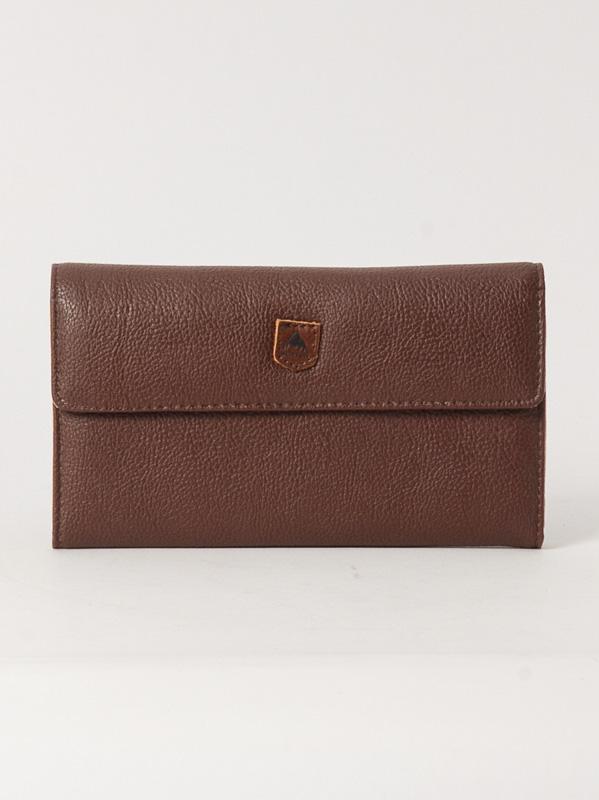 Burton Peněženka Tri Fold Brown Leather hnědá