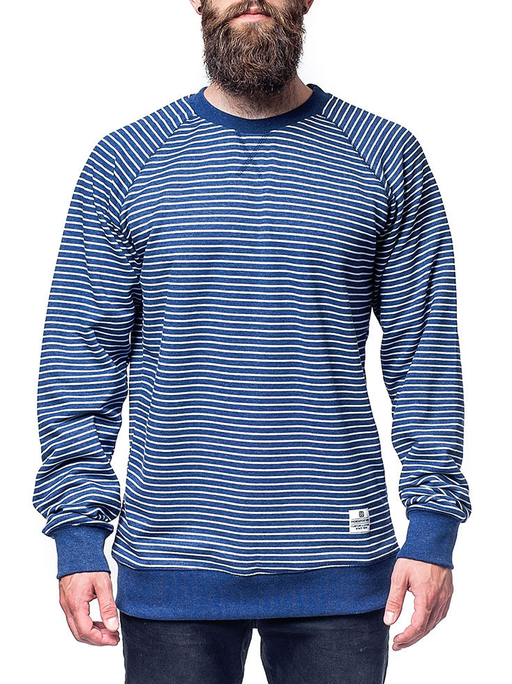 Horsefeathers Mikina Satire Navy Stripes - Xl modrá