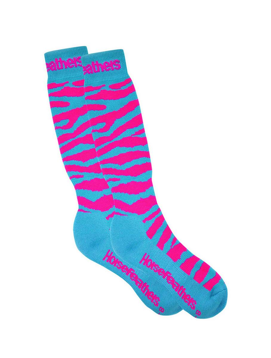 Horsefeathers Ponožky Animal Neon - 7-8 modrá