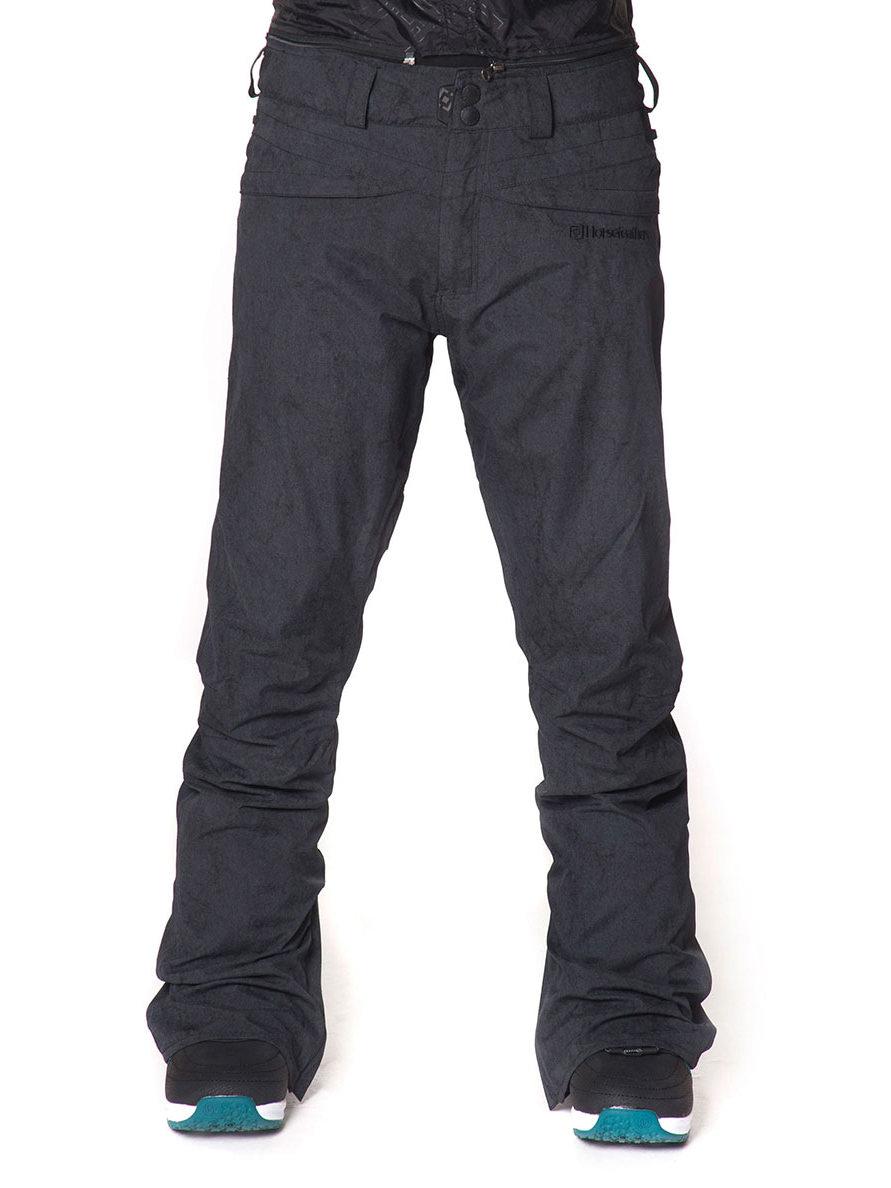 Horsefeathers Kalhoty Ivy 10 Washed Black - S černá