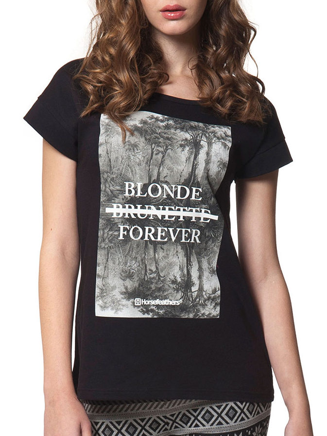 Horsefeathers Top Forever Blonde - L černá