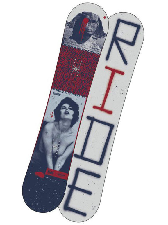 Ride Snowboard Kink Blu/red 152 modrá