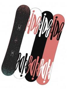 RIDE snowboard RAPTURE BLK/BLU 143