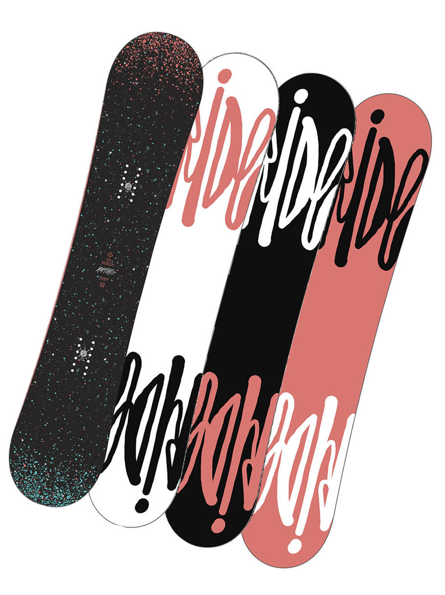 Ride Snowboard Rapture Blk/blu 147 černá
