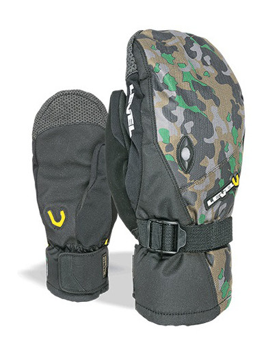 Level Rukavice Matrix Mitt Camo - L šedá
