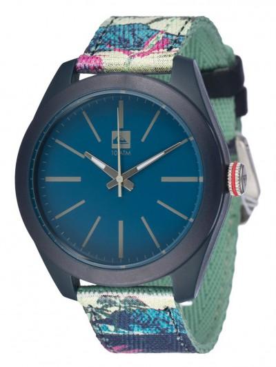 d0c112020 QUIKSILVER hodinky FURTIV CANVAS Blue/Blue/Blue / TempleStore.cz