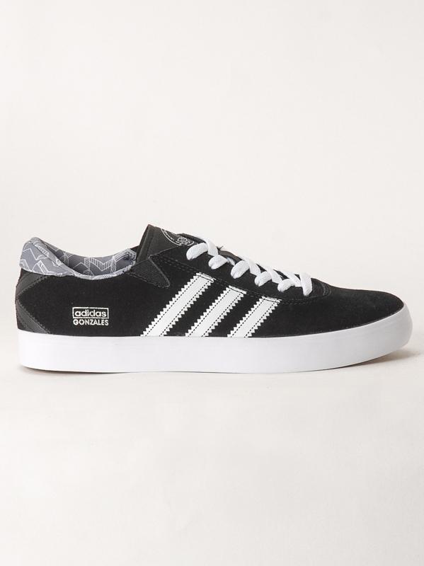 Adidas Boty Gonz Pro Blk/wht/gry - 12us černá