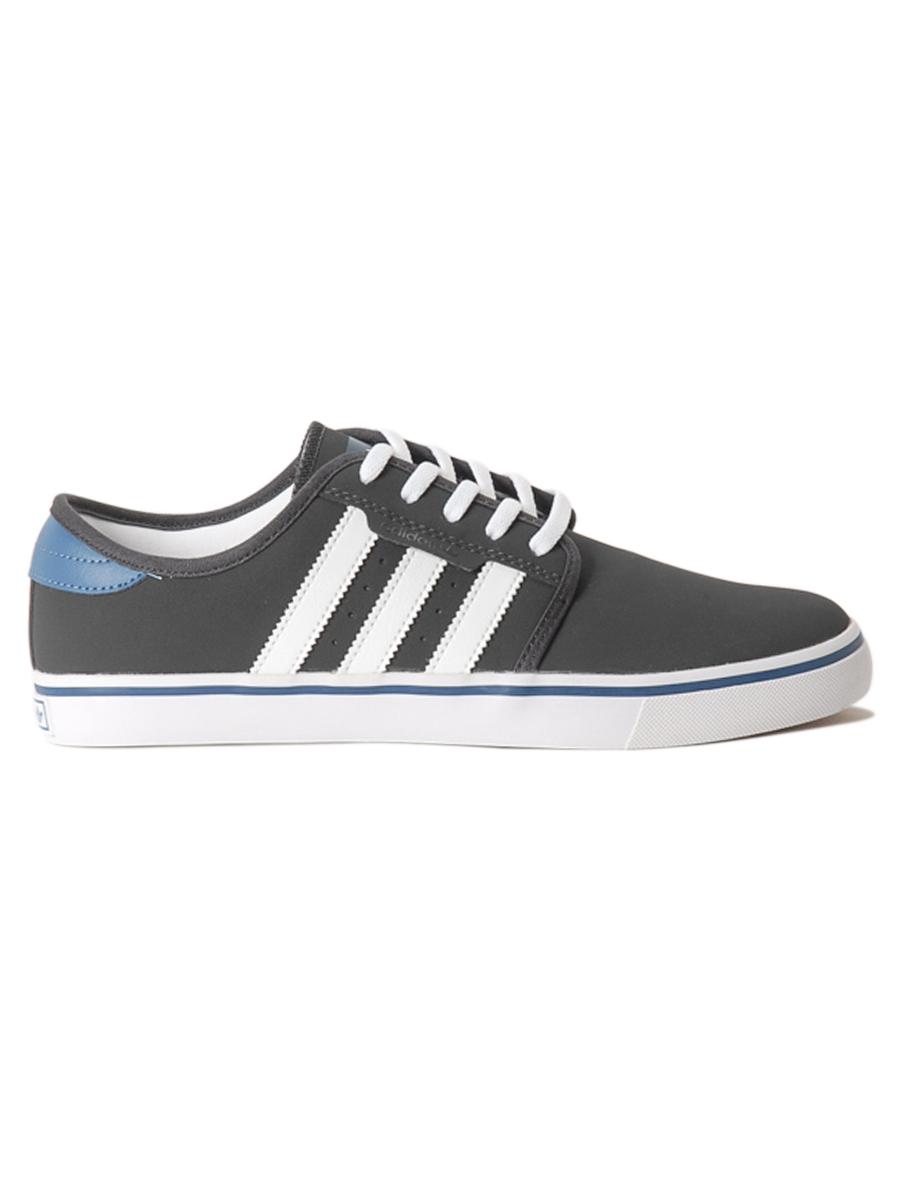 Adidas Boty Seeley Carb/wht/blu - 10,5us šedá