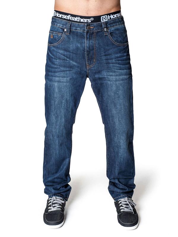 Horsefeathers Kalhoty Smith Mid Blue - 26 modrá