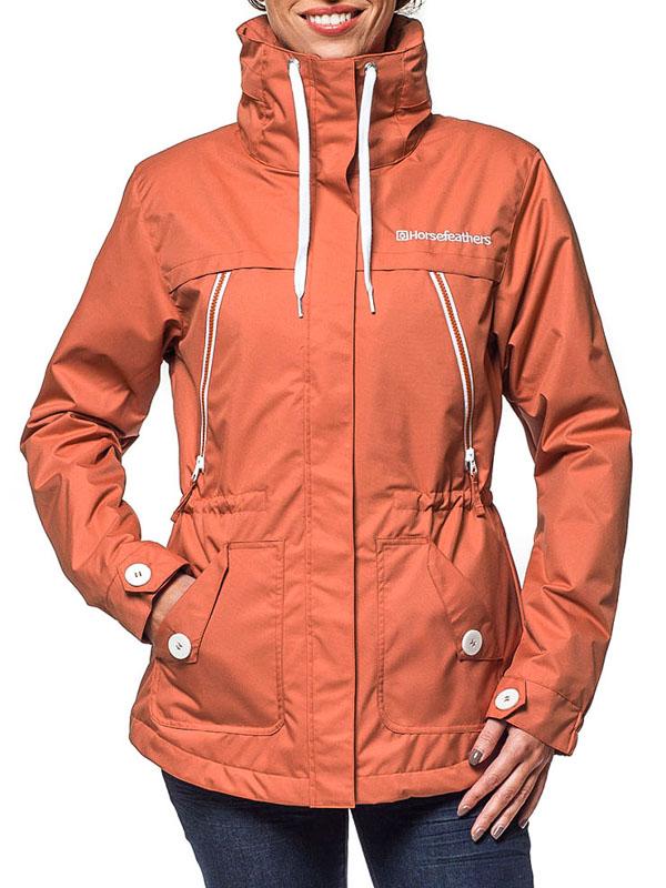 Horsefeathers Bunda Kimi Rust - M oranžová