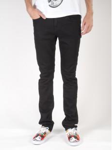 VANS kalhoty V76 SKINNY Overdye Black