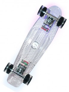NILS pennyboard LED TRANSPARENT