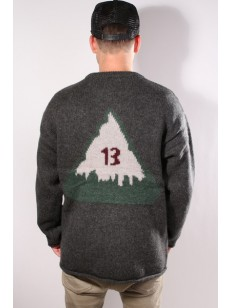BURTON svetr THROWBACK DARK ASH HEATHER