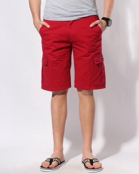 Troy Lee Designs Kraťasy Private Cargo Dark Red - 30 červená