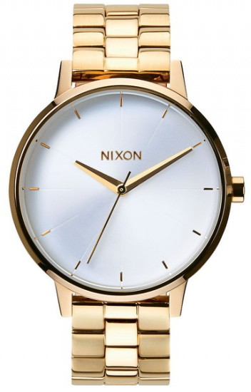 NIXON hodinky KENSINGTON GOLDWHITE