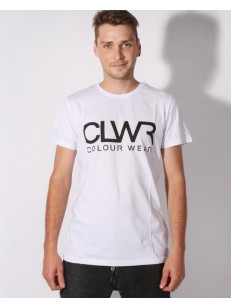 COLOUR WEAR tričko WEAR CLWR WHITE