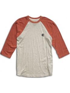 ETNIES tričko RAGLAN WHITE/ORANGE