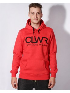 COLOUR WEAR mikina CLWR HOOD RED MELANGE