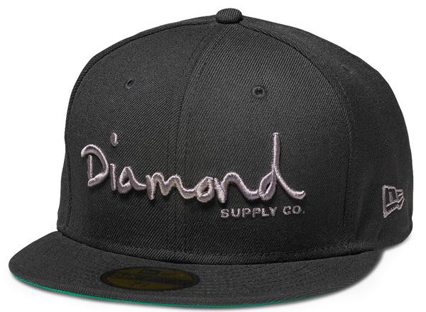 Kšiltovka Diamond Og Script Fitted New Era Black + DOPRAVA ZDARMA