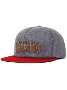 BRIXTON kšiltovka HAMILTON HEATHER GREY/RED