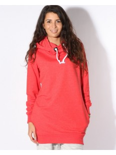 COLOUR WEAR mikina HYPE HOOD RED MELANGE