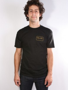BRIXTON triko GRADE STANDARD BLACK/GOLD