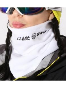 CLAST šála FLEECE SWISBOARD WHITE