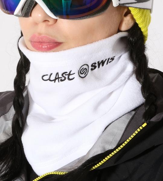 Clast Šála Fleece Swisboard White bílá