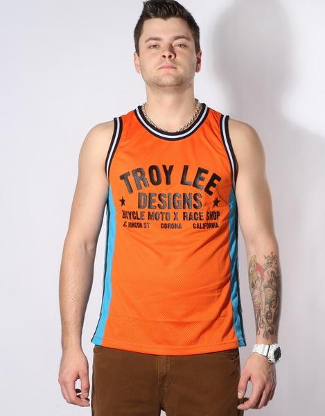 Troy Lee Designs Tílko Torque Orange/blue - Xxl oranžová